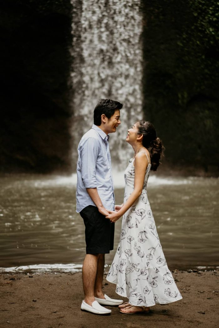 prewedding air terjun
